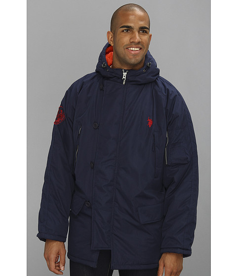 U.S. POLO ASSN. - Long Snorkel Jacket (Classic Navy) Men's Coat