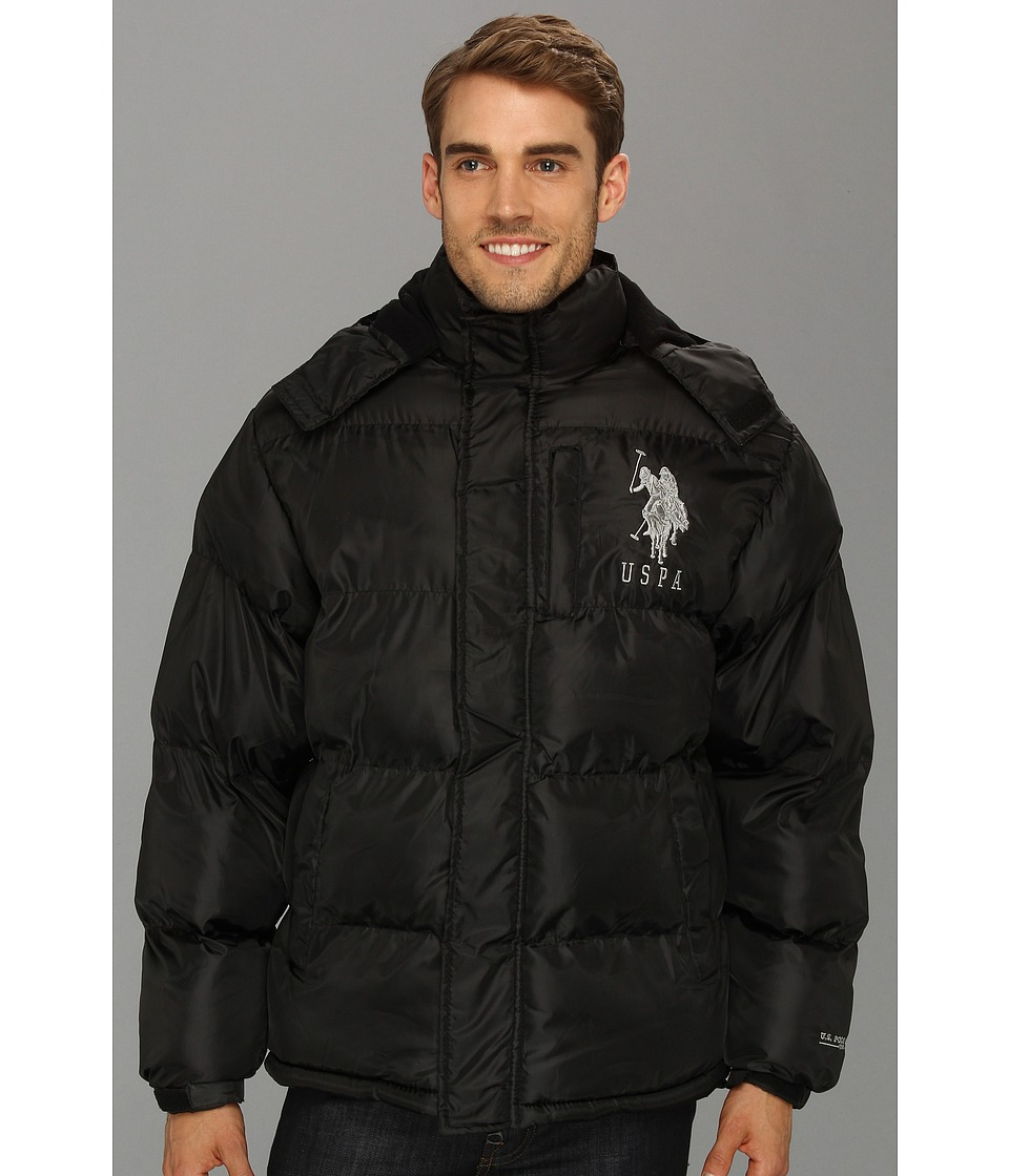 U.S. POLO ASSN. - Classic Short Bubble Coat w/ Big Pony (Black) Men's Coat