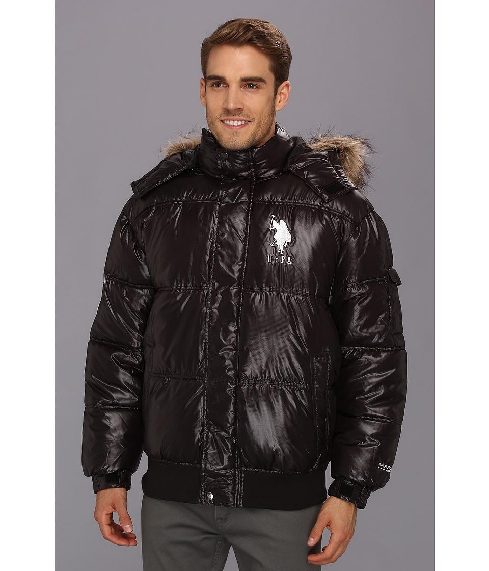 U.S. POLO ASSN. - Short Snorkel Coat w/ Large Pony (Black) Men's Coat plus size,  plus size fashion plus size appare