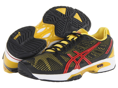 ASICS - Gel-Solution Speed 2 (Black/Fiery Red/Yellow) Men