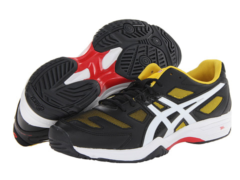 ASICS - Gel-Solution Slam 2 (Black/White/Yellow) Men's Tennis Shoes
