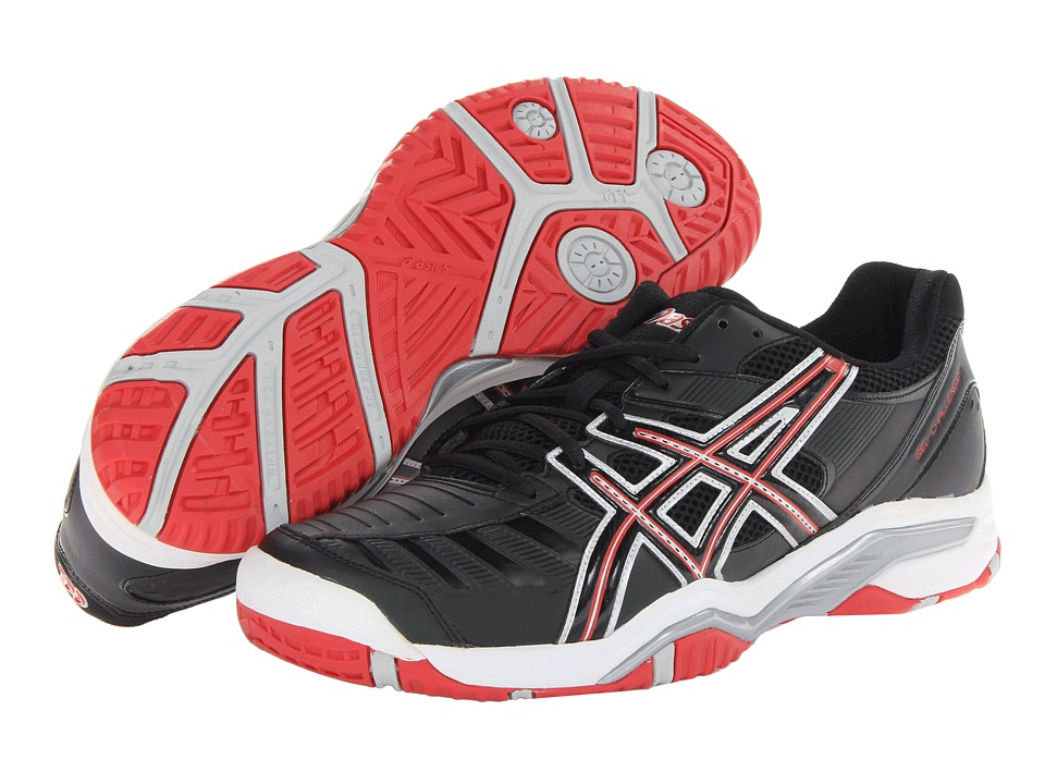 ASICS - Gel-Challenger 9 (Black/Fiery Red/Silver) Men's Tennis Shoes
