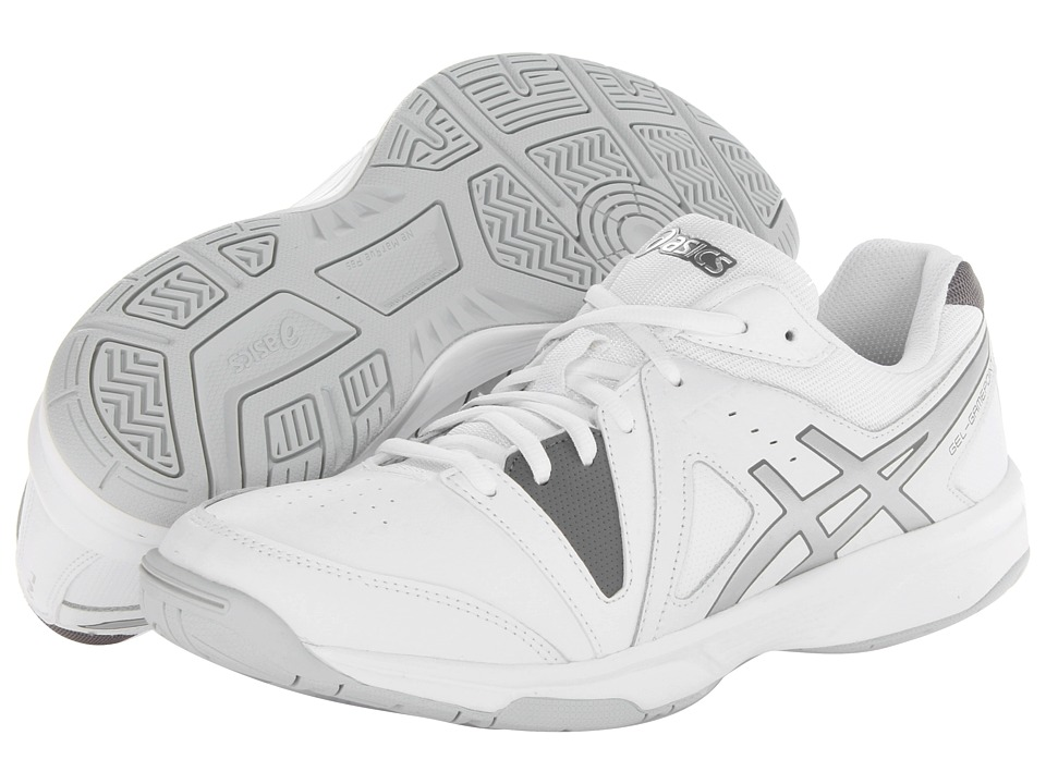 ASICS - Gel-Gamepoint (White/Charcoal/Silver) Men's Tennis Shoes