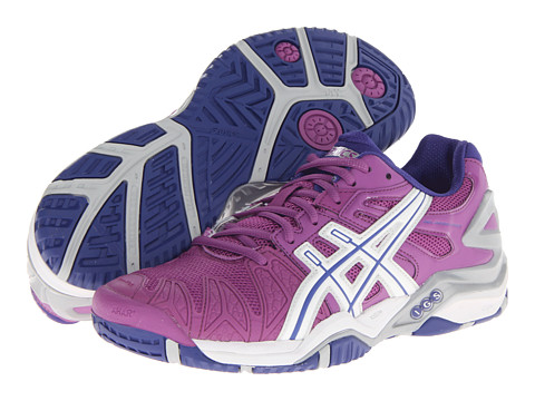 ASICS - Gel-Resolution 5 (Grape/White/Silver) Women's Tennis Shoes