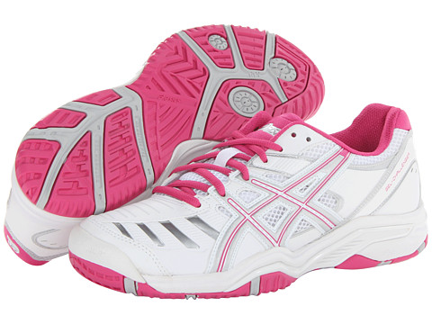 ASICS - Gel-Challenger 9 (White/Fuchsia/Silver) Women's Tennis Shoes