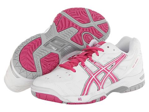 ASICS - Gel-Game 4 (White/Fuchsia/Lightning) Women's Tennis Shoes