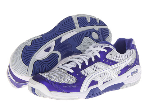 ASICS - Gel-Blade 4 (Purple/White/Lightning) Women's Shoes