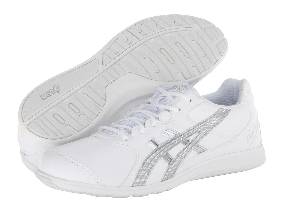 ASICS - Cheer 7 (White/Silver/Interchange) Women's Shoes