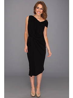 SALE! $171.99 - Save $173 on Badgley Mischka Jersey Drape Dress (Black) Apparel - 50.15% OFF $345.00