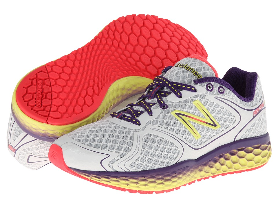New Balance - Fresh Foam 980 (White/Purple Cactus Flower/Neon Yellow) Women