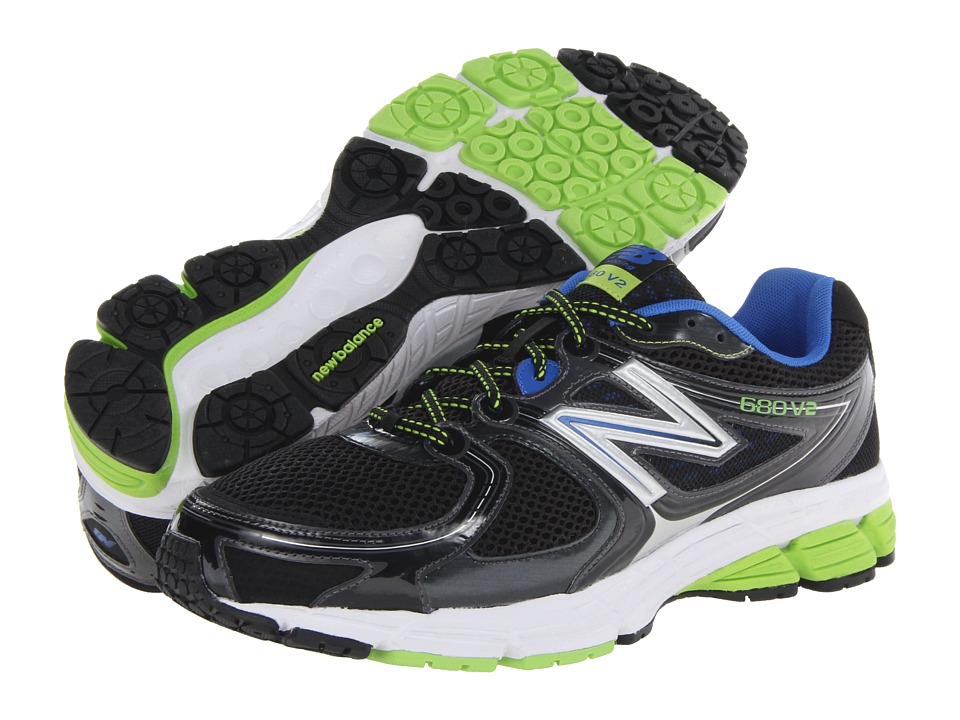 New Balance - M680v2 (Black/Blue/Green) Men's Shoes