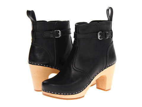 Swedish Hasbeens - High Heeled Jodhpur (Black/Nature Sole) Women's Pull-on Boots