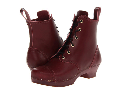 Swedish Hasbeens - Grandma Debutant Boot (Bordeaux/Bordeaux) Women