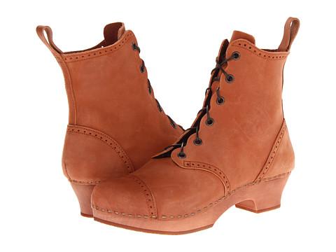 Swedish Hasbeens - Grandma Debutant Boot (Cognac Nubuck/Cognac) Women's Lace-up Boots