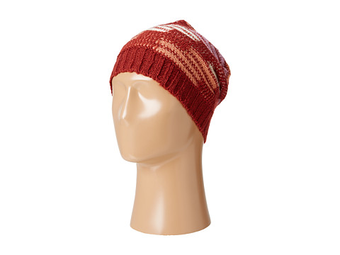 BCBGeneration - Ripple Stitch Color Block Slouch Hat (Rosewood) Caps