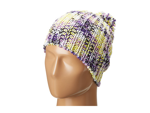 BCBGeneration - Colorful And Cozy Pom Hat (Electric Yellow) Caps
