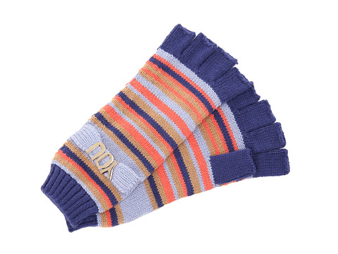 BCBGeneration - City Stripe Fingerless Gloves (Blue Suede Shoes) Lace Gloves