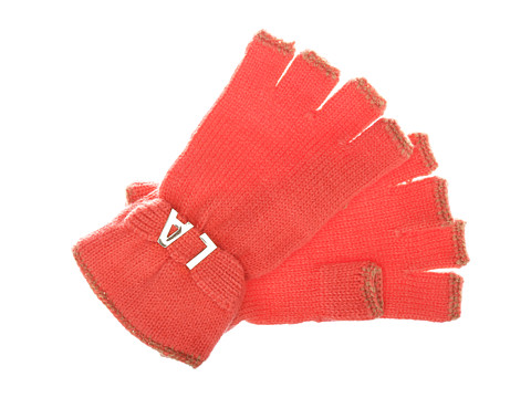 BCBGeneration - Affirmation Fingerless Gloves (Pretty in Papaya) Lace Gloves