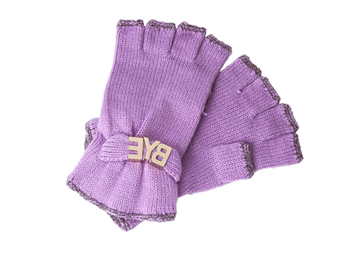 BCBGeneration - Affirmation Fingerless Gloves (Posh Purple) Lace Gloves