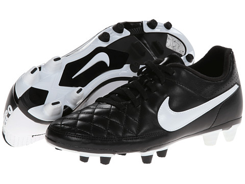 Nike - Tiempo Rio II FG (Black/White) Men's Soccer Shoes