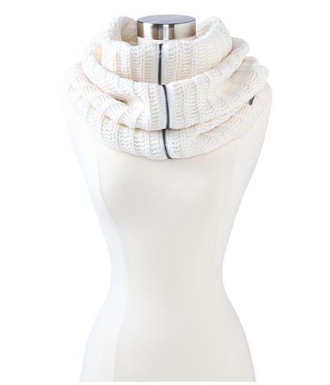 BCBGMAXAZRIA - Zipped Up Oversize Cowl (Ivory) Scarves