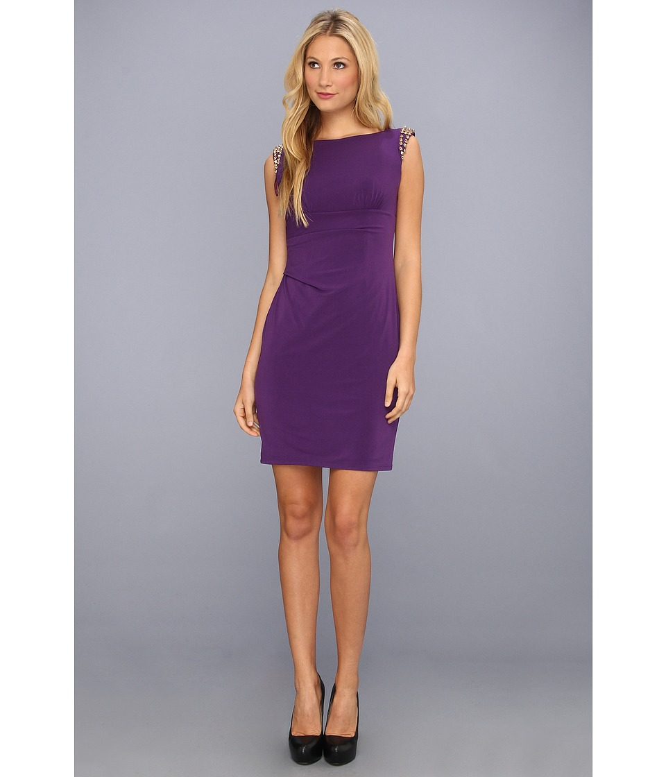 Vince Camuto - Spiked Shoulder Dress (Purple) Women