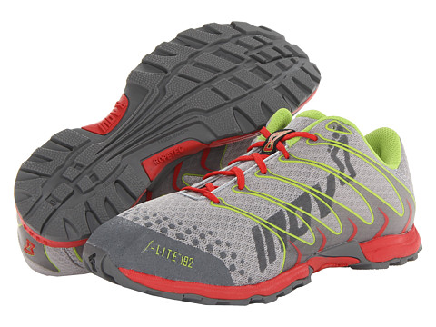 inov-8 - F-Lite 192 (Grey/Lime/Red) Men's Running Shoes