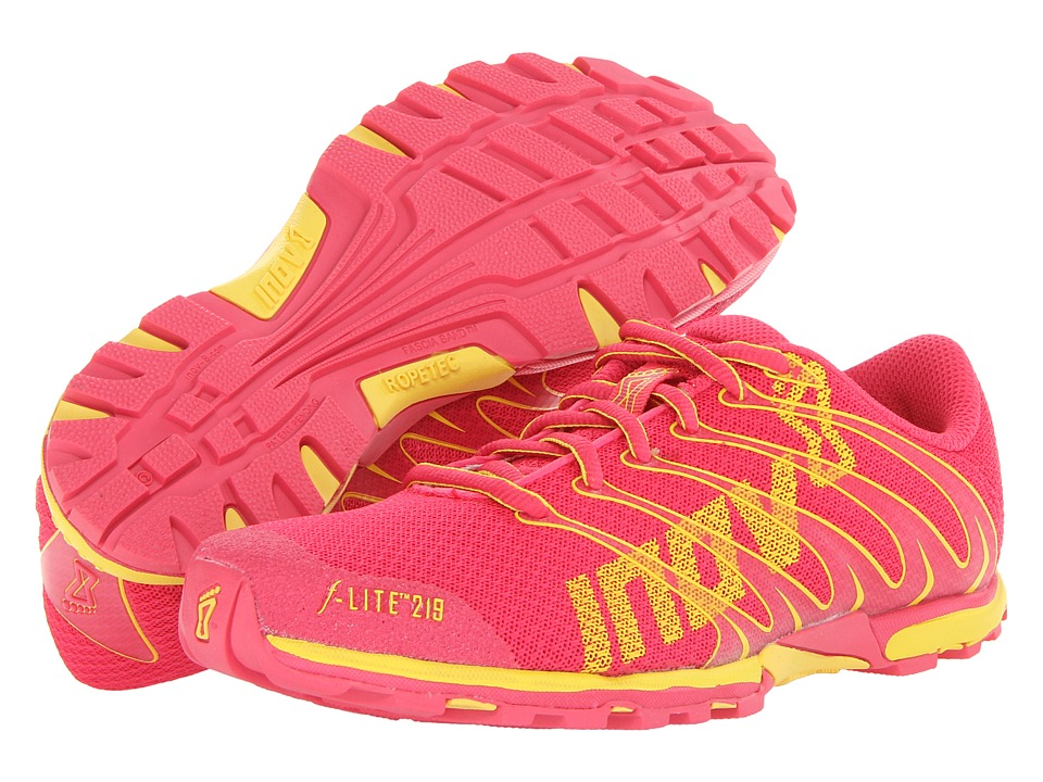 inov-8 - F-Lite 219 (Pink/Yellow) Women's Running Shoes