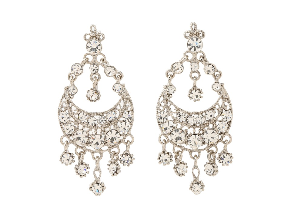 Nina - Lori Earrings (Silver/Crystal) Earring