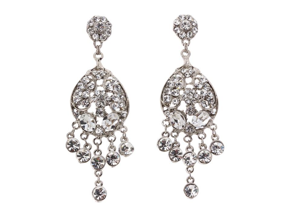 Nina - Dina Earrings (Silver/Crystal) Earring