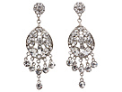 Nina Dina Earrings (Silver/Crystal)