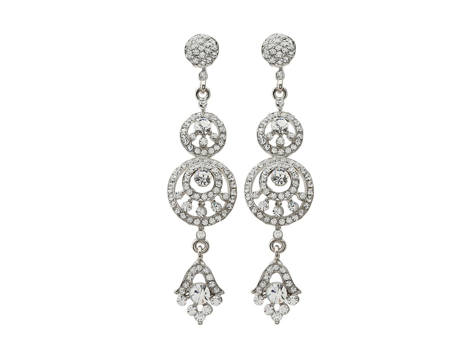 Nina - Biba Earrings (Silver/Crystal) Earring