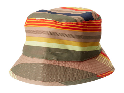 The North Face Kids - Youth Sun Stash Hat (Burnt Olive Green Stripe) Caps