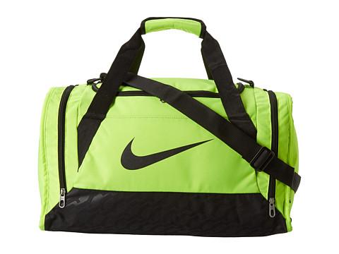Nike - Brasilia 6 Small Duffel (Volt/Black/Black) Duffel Bags
