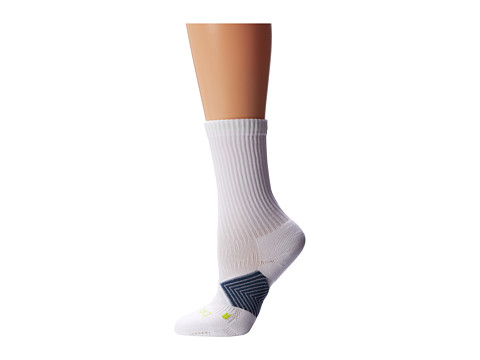 Nike - Running Cushioned Support (White/Squadron Blue/Stadium Grey/Cyber) Crew Cut Socks Shoes