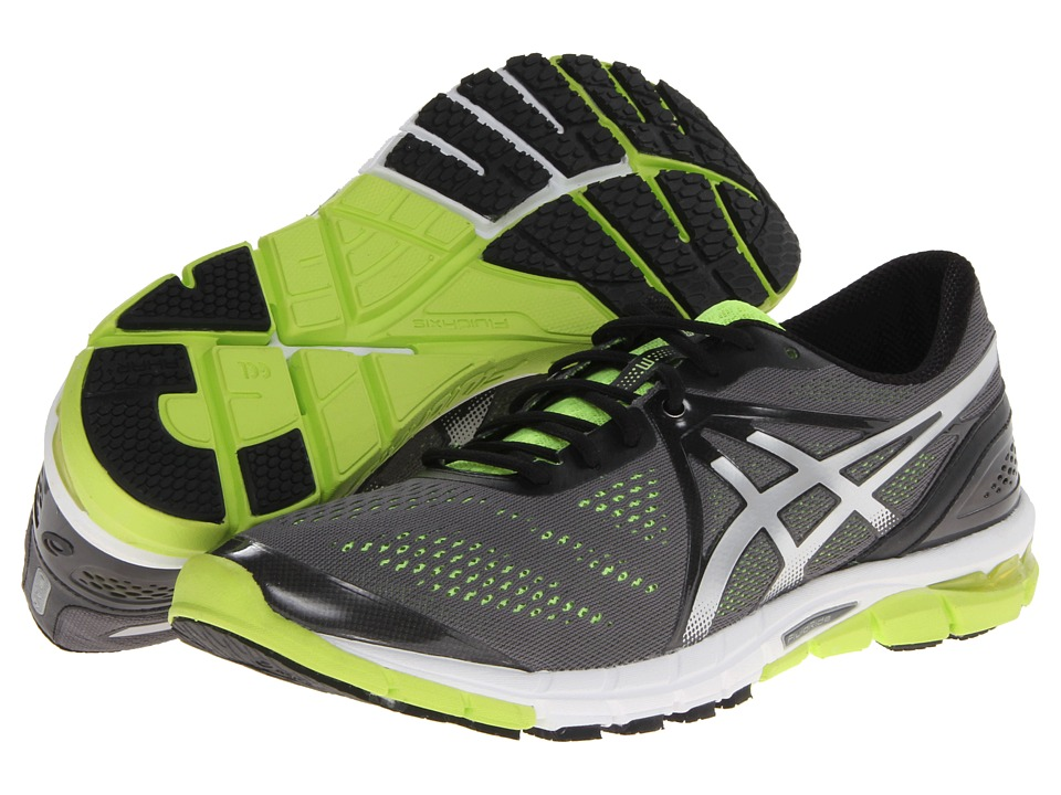 ASICS - Gel-Excel33 3 (Charcoal/Lightning/Yellow) Men's Running Shoes