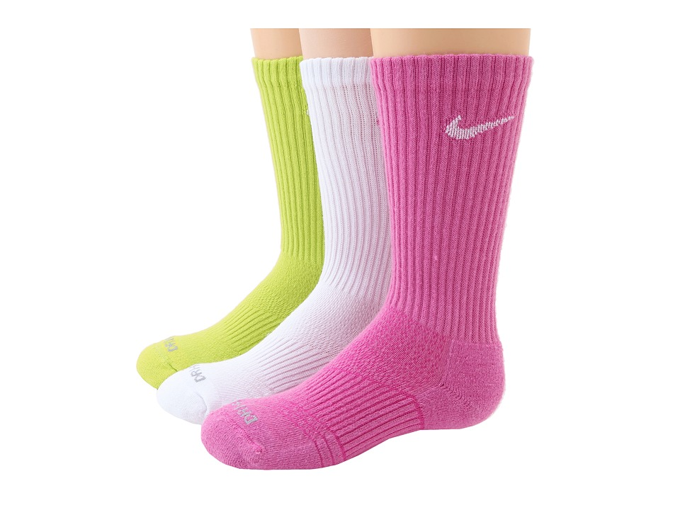 Nike - Dri-Fit Cushion Crew 3-Pair Pack (Multi 1) Women's Crew Cut Socks Shoes