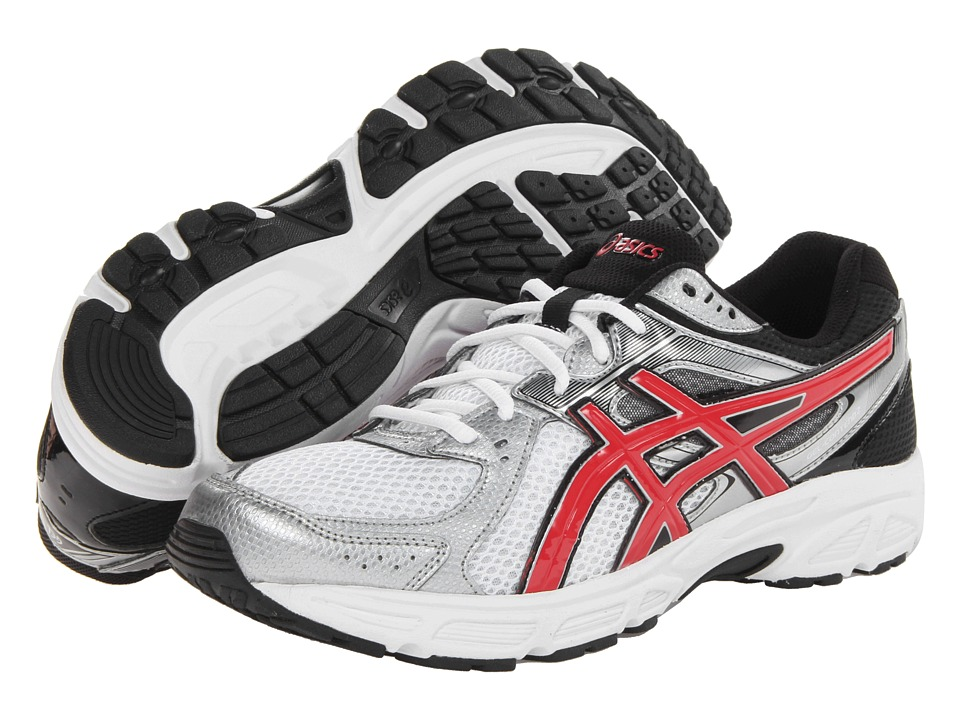 ASICS - GEL-Contend 2 (White/Red/Black) Men's Running Shoes