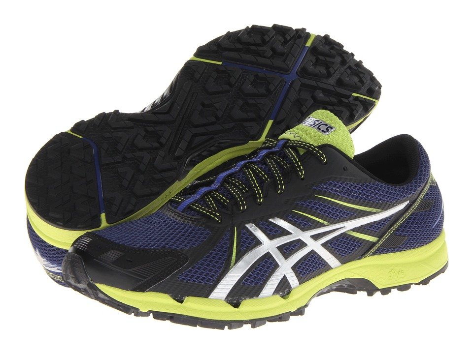 ASICS - GEL-FujiRacer 3 (Navy/Silver/Lime Punch) Men's Running Shoes
