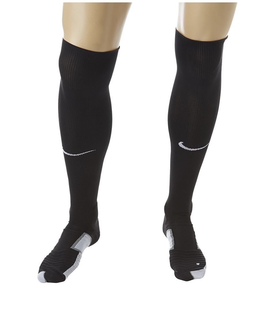 Nike - Elite Match Fit Soccer Over The Calf (Black/Wolf Grey/White/White) Knee High Socks Shoes