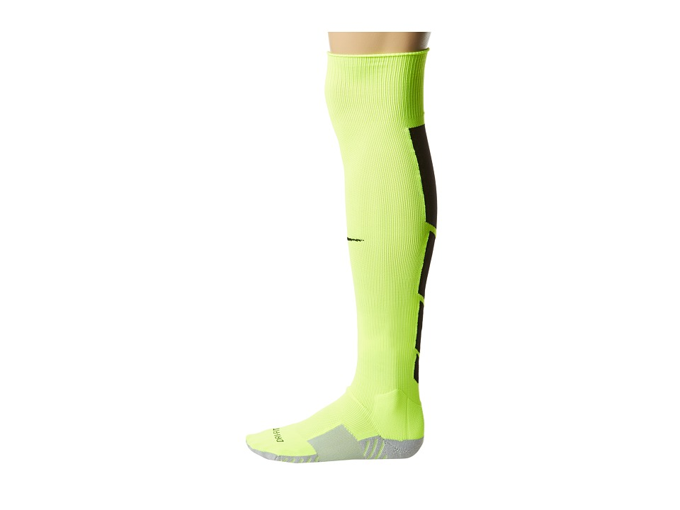 Nike - Stadium Soccer Over The Calf (Volt/Wolf Grey/Black/Black) Knee High Socks Shoes