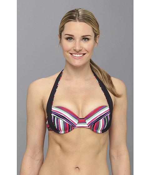 Lole - Turquesa Halter/Bandeau Bikini Top (Glade Green Multistripe) Women's Swimwear