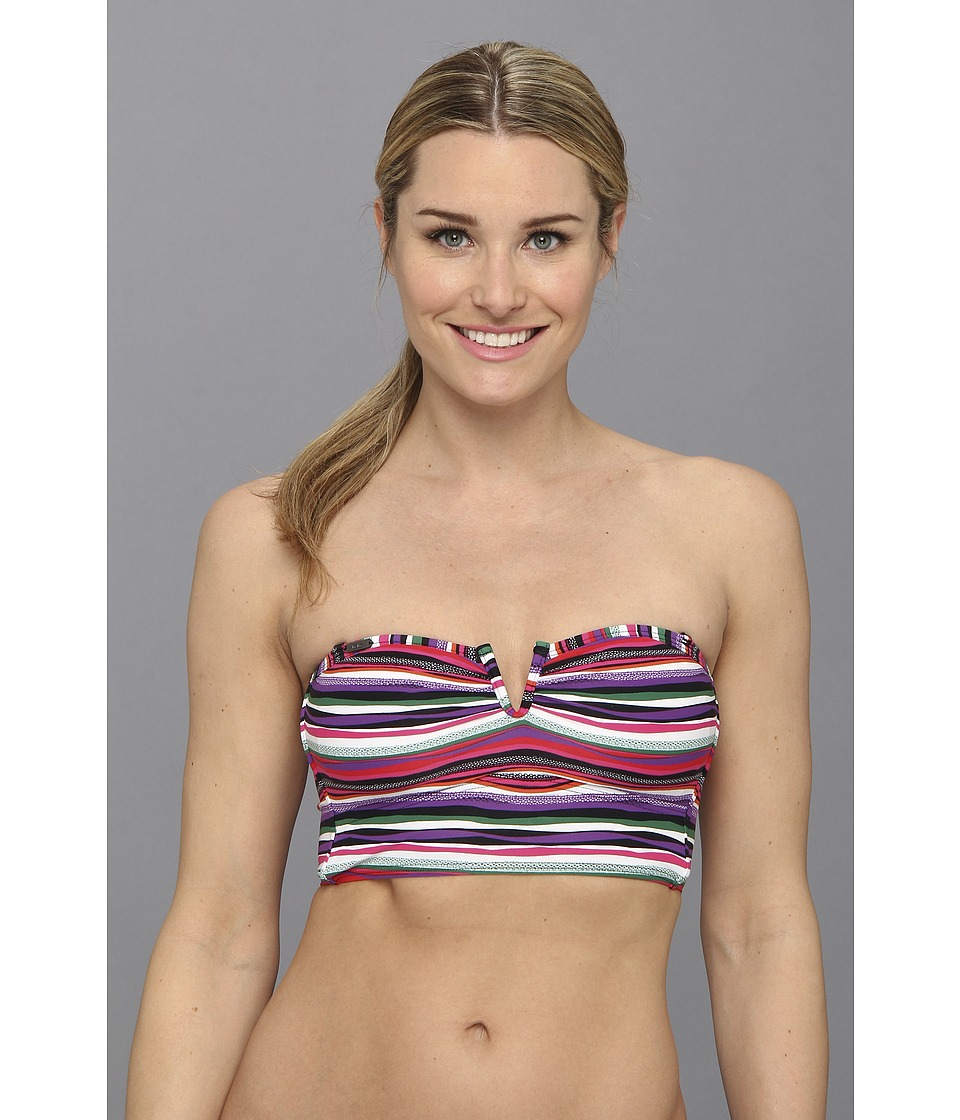 Lole - Mnemba Bandeau Top (Glade Green Multistripe) Women's Swimwear
