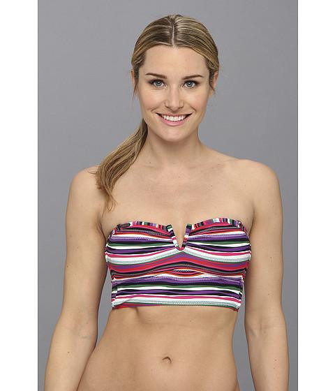 Lole - Mnemba Bandeau Top (Glade Green Multistripe) Women's Swimwear