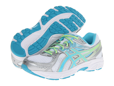 ASICS - GEL-Contend 2 (White/Turquoise/Sharp Green) Women's Running Shoes