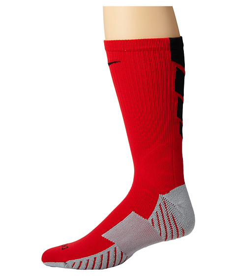 Nike - Stadium Soccer Crew (University Red/Wolf Grey/Black/Black) Crew Cut Socks Shoes