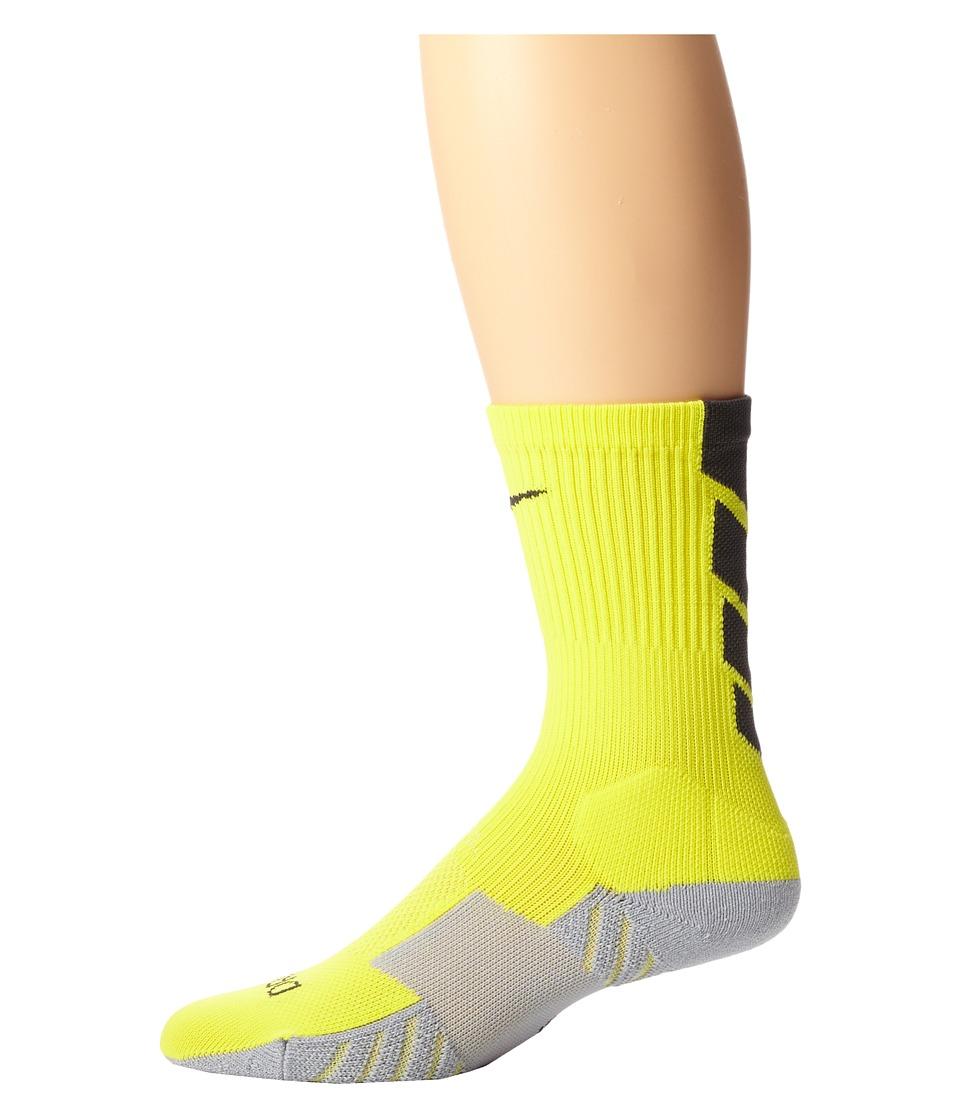 Nike - Stadium Soccer Crew (Volt/Wolf Grey/Black/Black) Crew Cut Socks Shoes