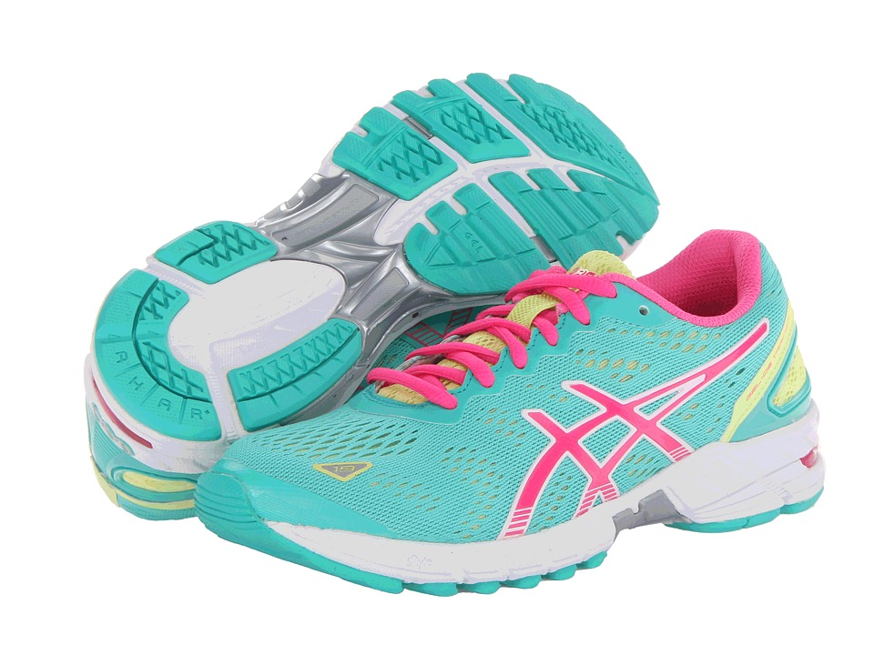 ASICS - GEL-DS Trainer 19 (Emerald/Hot Pink/Sunny Lime) Women's Running Shoes