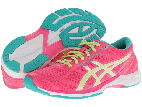 ASICS - GEL-DS Racer 10 (Hot Pink/Sunny Lime/Emerald) Women's Running Shoes