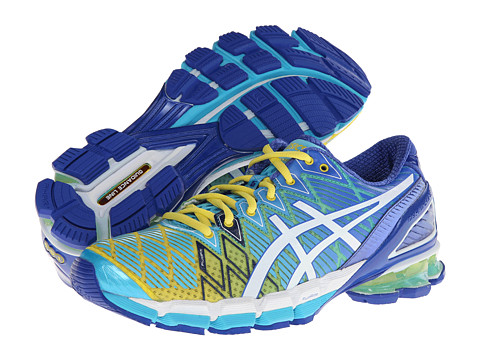 ASICS - Gel-Kinsei 5 (Yellow/White/Turquoise) Women's Running Shoes